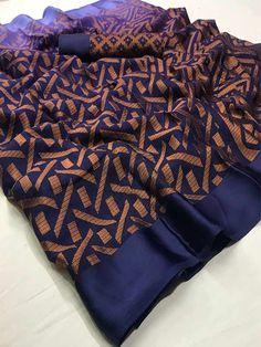 Style Array Present Sea Multi Colored Beautiful Soft Brasso Silk Fancy Saree Net Saree, Georgette Sarees, Silk Sarees, Saree Design Patterns, Jute Silk Saree, Cotton Saree Designs, Fancy Blouse Designs, Sari Fabric, Fancy Sarees