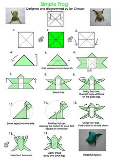 Origami for Everyone – From Beginner to Advanced – DIY Fan Origami 101, Origami Frog, Origami Yoda, Origami And Kirigami, Origami Dragon, Origami Bird, Origami Folding, Paper Crafts Origami, Origami Tutorial