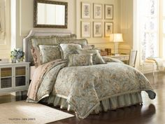 J-Queen-New-York-Valdosta-Aqua-California-King-4-Pc-Comforter-Set