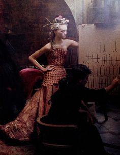 Gemma Ward by Annie Leibovitz wearing John Galliano Haute Couture