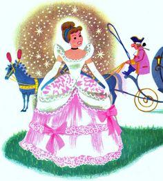 Cinderella's dress | from Walt Disney's Cinderella,A Little Golden Book,1950