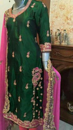 Embroidery Suits Punjabi, Embroidery Suits Design, Hand Embroidery, Machine Embroidery, Party Wear Indian Dresses, Designer Party Wear Dresses, Punjabi Suits Designer Boutique, Indian Designer Suits, Indian Attire