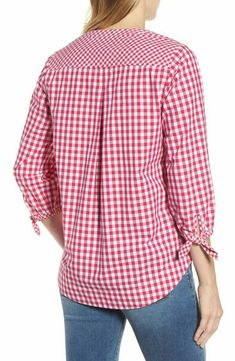 Super Sewing Tops For Women Pattern Sleeve Ideas Blouse Styles, Blouse Designs, Short Tops, Sewing Clothes, Corsage, Gingham, Clothes For Women, Sleeves, Vineyard Vines