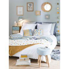 Bett aus Holz und Stoff, 140 x ... - Brent