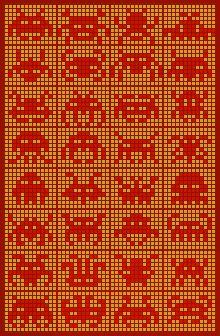 borduren met tegeltjes Space Invaders