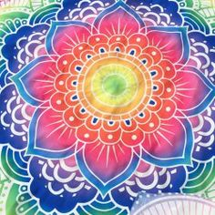 Indian Style Personality Mandala Colorful Flower Polyster Beach Throw - BLUE