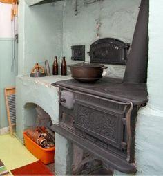 Old Husqvarna vedspis - range cooker.
