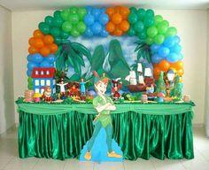 FIESTAS TEMA PETER PAN Peter Pan Party, Displays, Birthday Cake, Fairies, Pirates, Table Scapes, Educational Activities, Fiestas, Events