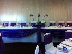 Full Event Dressing in a Cadbury's purple colour