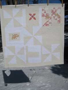 Multani Quilt 2 --30.5 x 30.5-Red Multan Tile Fabric Designs--Crib, Stroller, or Car Seat Blanket. $125.00, via Etsy.