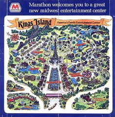 LOVED Kings Island amusement park, Mason, Ohio - I came to know every inch of this place. Coney Island Amusement Park, Amusement Parks, Summer Memories, Childhood Memories, Theme Park Map, Kings Island, Old King, Cedar Point, Cartography