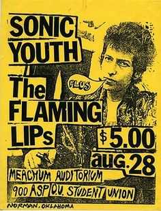 Sonic Youth, Flaming Lips OMG wish i couldve been there at that show!!