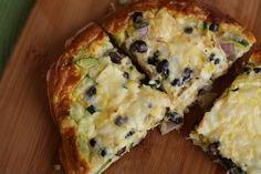 Black Bean Frittata via @Aggie's Kitchen