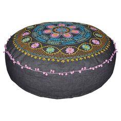 Pretty Floral Floor Pillow.