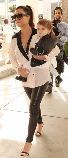 Kourtney Kardashian - Lunch with Kim Kardashian, Penelope Disick, and North West