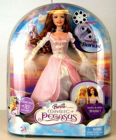 Barbie Barbie as the Magic of Pegasus Brietta Doll Box # H7449 Value and Details