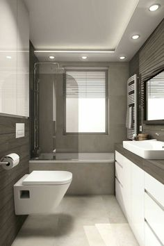 Home Renovation Tips – What to Install in a Bathroom Bathroom Design Layout, Modern Bathroom Design, Bathroom Interior Design, Minimal Bathroom, House Ceiling Design, Ceiling Design Living Room, House Design, Bathroom Renos, Small Bathroom