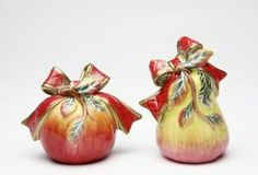 Fine Porcelain Christmas Gifts Collectible - Victorian Harvest Salt and Pepper Set by Cosmos. $14.99