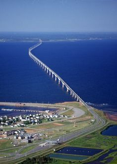 New Brunswick, Canada ~ The Confederation Bridge (French: Pont de la Confédération) spans the Abegweit Passage of Northumberland Strait. It links Prince Edward Island with mainland New Brunswick, Canada. Nova Scotia, Pei Canada, Canada Eh, Halifax Canada, Places To Travel, Places To See, New Brunswick Canada, Atlantic Canada, Prince Edward Island