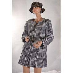 manteau femme noir et blanc 46 #Damart # vetement occasion #videdressing