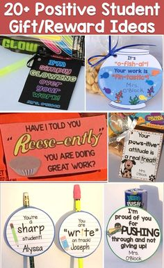 Over 20 ideas for encouraging & positive student gifts / rewards that can be used throughout the school year to recognize their hard work and effort, improved behavior, achievement of a milestone, or during testing or assessment.