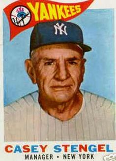 Today 8-31 in 1965 - After 40 years in baseball, Casey Stengel announced his retirement.
