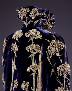 Embroidered velvet coat, Marshall & Snelgrove, England, 1895-1900.