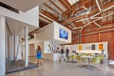 Modern offices in an old industrial space in Los Angeles
