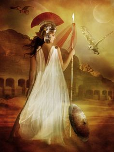 Athena the daughter of Zeus was the godess of wisdom, of household arts and crafts. Athena, goddess of war, and the guardian of Athens. Greek Gods And Goddesses, Greek And Roman Mythology, Demigod Quiz, Athena Goddess Of Wisdom, Isis Goddess, Athena Cabin, Warrior Spirit, Woman Warrior, Thinking Day