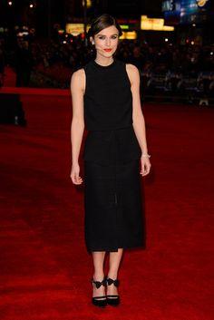 Cuquizapatos Keira Knightley en la premiere Jack Ryan Shadow Recruit en Londres con un vestido de Proenza Schouler Primavera-Verano 2014