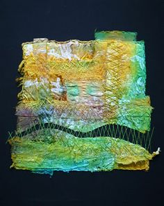 Kim's Hot Textiles: What a fabulous Textile Fiber Art, Textile Artists, Textiles Techniques, Art Techniques, Thread Painting, Free Machine Embroidery, Fabric Manipulation, Texture Art, Fabric Art