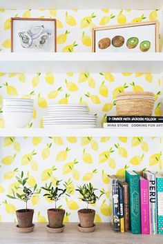 Citrus Kitchen - 15 Times A Hint Of Wallpaper Wowed Us - Photos