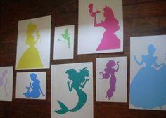 Set of 8 Custom Princess Silhouettes (Reserved for ldyginger8)