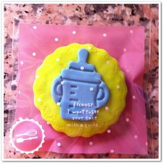 """Butter cookie with sugar paste.  """"Baby"""" #cookies #baby"""