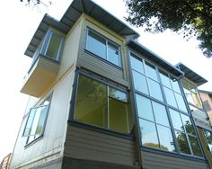 Amazing shipping container house made from three 40 foot refrigerated containers.