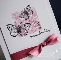 A few months ago I was lost for inspiration for a card for my Grandma's birthday, I wanted something pretty but just wasn't sure, then I re. 70th Birthday Card, Grandma Birthday, Birthday Woman, Happy Birthday, Paper Crafts, Card Crafts, Paper Art, Birthday Cards For Women, Diy Cards