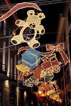 Fuchal Christmas decorations Madeira