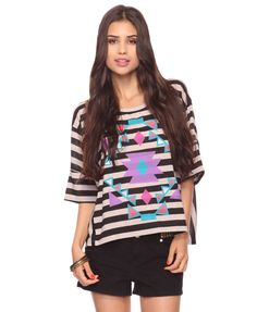 Striped Top | FOREVER21 - 2000031351