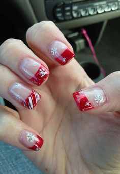 Christmas nails love these so much totes