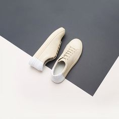 Two-Tone Low in Beige-White. Available now at theynewyork.com #handmade #WeAreThey #restock