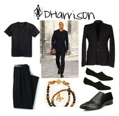 Black Out by dharrisonsdesigns on Polyvore featuring Lands' End, Prada, men's fashion and menswear.  #DHarrison #personalshopper #wardrobeconsultant #stylist #visualfashionblogger #jewelrydesigner #fashiongrid #stylegrid #clothinggrid #teeshirt #trousers #bracelet #sportcoat #linersocks #mensshoes #getthelook #follow #like #menswear #fun #polyvore #fashion #streetstyle #outfit #mensoutfit #polyvorestyle #fashionblogger #fashionset #reallifeset #style #stylesteal