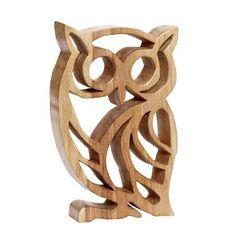 Hübsch Carved Wood Owl