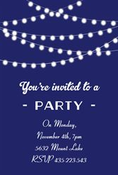 Party Lights   Free Printable Party Invitation Template | Greetings Island  Free Party Invitation Template