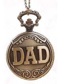 Huismerk Bronze Ketting Zakhorloge DAD Patroon