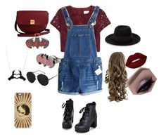 """""""Jokes on you batman"""" by vintagegabbi on Polyvore featuring J.Crew, Colorful Shoes, Maison Michel, Lime Crime, The Code and Casetify"""