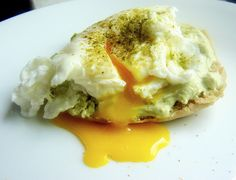 Poached Egg with green tea cheese spread and green tea salt by burp_excuzme, via Flickr