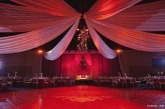 A La Carte Pavilion: 8 point ceiling treatment with a cluster of ivory candle chandeliers  Jasmin + Hameed | Indian Pakistani Wedding at A La Carte Pavilion Tampa, FL | Kismis Ink Photography