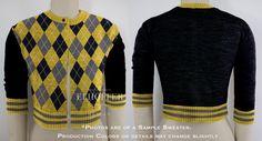 PREORDER Yellow/Black Argyle Cardigan