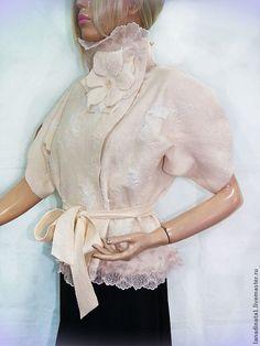 """Купить Жилет из валяной шерсти """"Белая жемчужина"""" - бежевый, жилет валяный, жилетка, дизайнерская одежда"""