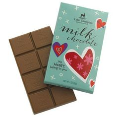 Valentines Organic Milk Chocolate Bar My Heart Belongs to You $6